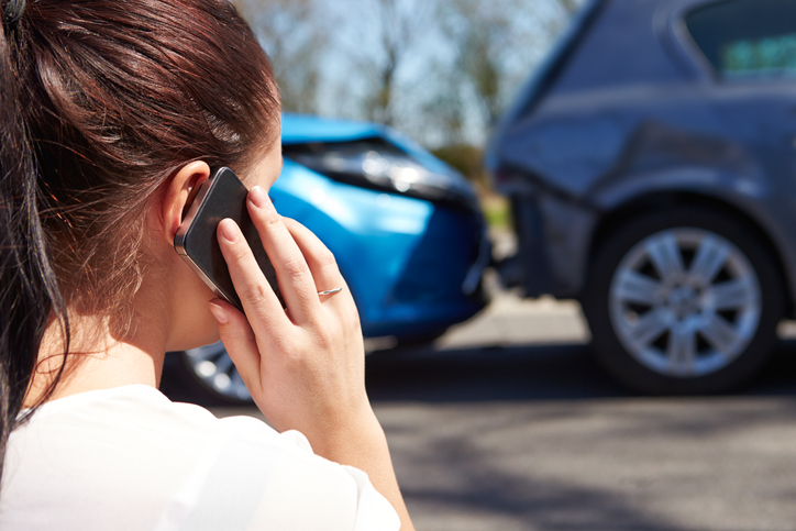 young woman in a car accident jerome and summey insurance